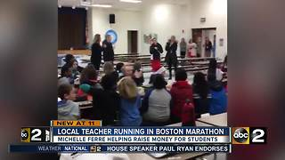 Local teacher running in Boston Marathon - Video