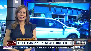 Used car prices at an all-time high