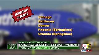 Southwest adds cheap Florida flight from CVG