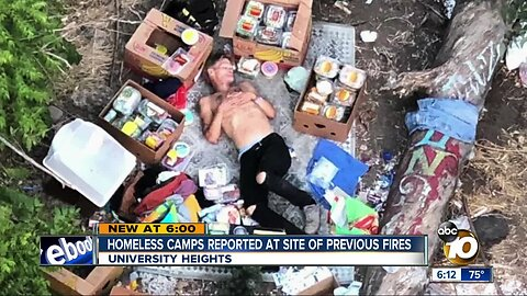 Neighbors feeling angst after homeless camps move into site of repeat fires