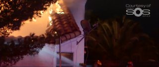 Electric blanket sparks fire