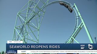 SeaWorld reopens some rides