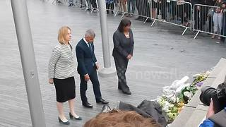 Mayorof London Sadiq Khan pays tribute to London Bridge victims - Video