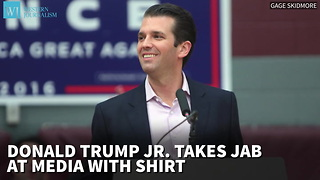 Donald Trump Jr. Takes Jab At Media With 'Very Fake News' Shirt - Video