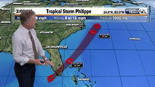 2 a.m. Sunday update on Tropical Storm Philippe - Video