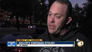 Navy Sailor's keepsake stolen in car break-in - Video