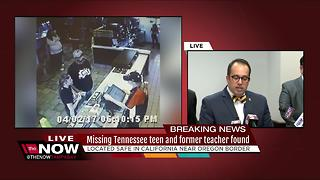 Missing Tennessee teen and former teacher found - Video