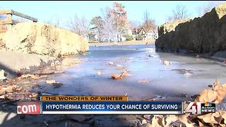 Firefighters warn against playing on frozen ponds, lakes or rivers - Video