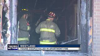 Young couple killed in apartment fire - Video