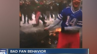 Bad fan behavior at Bills game - Video