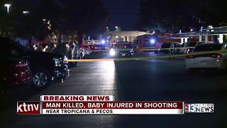 Las Vegas man dead, baby injured in domestic shooting - Video