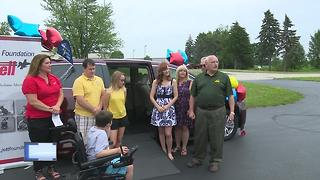 Boy with Duchenne muscular dystrophy receives life changing donation - Video
