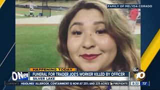 Funeral for trader joe's worker killed by officers - Video