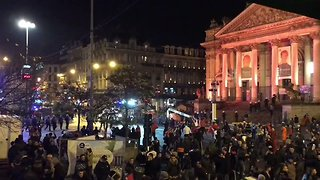 Moroccan Soccer Fans Clash with Brussels Police After World Cup Qualifier - Video