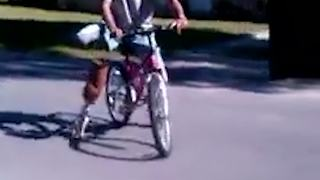 Man Loses His Prosthetic Leg On Bike Ride - Video