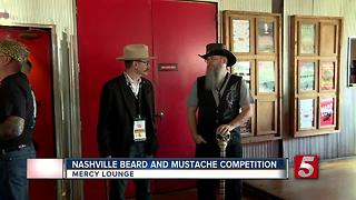 Beard, Mustache Competition Held At Mercy Lounge - Video