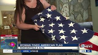 Woman looking for owner of 'Grandpa's flag' - Video