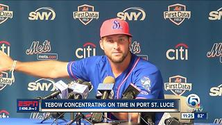 Tebow Returns to Port St. Lucie - Video