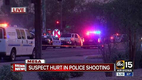 Suspect injured in Mesa officer-involved shooting