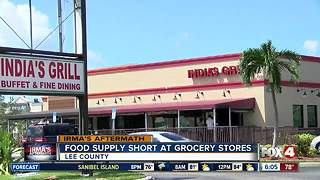 Food Supply Short at Grocery Stores after Hurricane Irma - Video