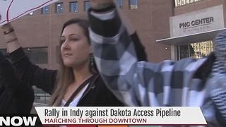 Rally in Indianapolis against the Dakota Access Pipeline - Video