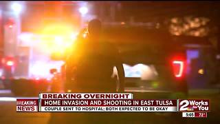 Tulsa Police search for overnight home invasion suspect - Video