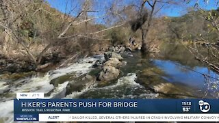 Hiker's parents push for bridge at Mission Trails