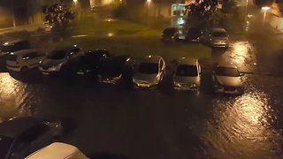 Heavy Wind and Rain Buffets Guadeloupe as Hurricane Maria Sweeps Through the Caribbean - Video
