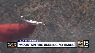 Mountain Fire burning more than 7,000 acres