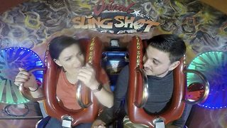 Brave Guy Proposes To 'Coasterphobic' Girlfriend In This Hilarious Proposal - Video