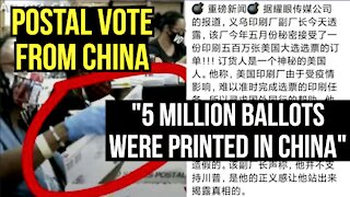 Postal Votes from China.