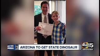 Top stories: Arizona to get state dinosaur, verdict in Zahau civil case, warm week continues - Video