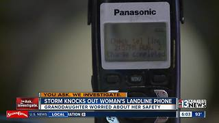 Las Vegas grandmother goes weeks without phone service after nasty storm - Video