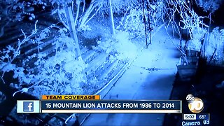 15 Mountain Lion Attacks from 1986 to 2014 in CA