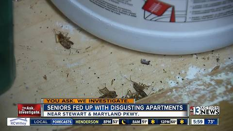 Seniors complain of unsafe conditions at downtown apartment complex