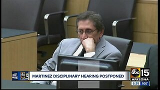 Juan Martinez's disciplinary hearing postponed