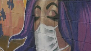 Local artist explains mural honoring nurses