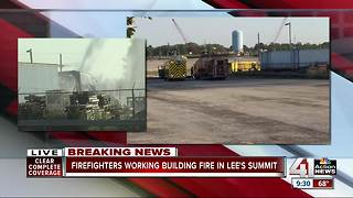 Lee's Summit chemical manufacturer catches on fire, no injuries reported - Video