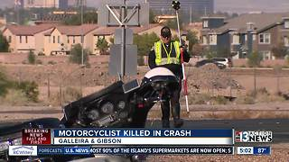 Motorcyclist killed in Henderson crash