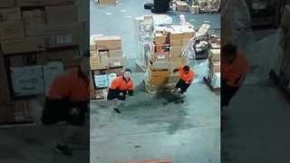 These Dancing Warehouse Workers Can't Contain Friday Feeling - Video