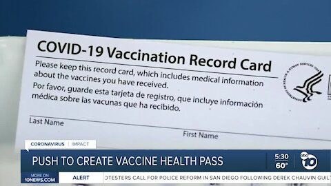 Push to create vaccine health pass
