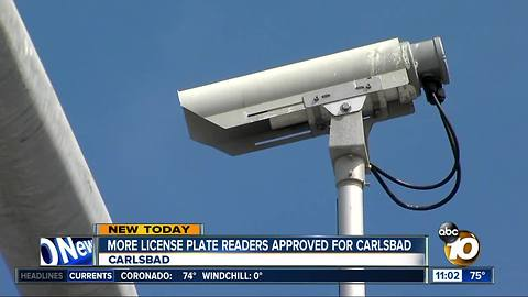 Carlsbad approves more license plate readers
