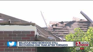 Bellevue neighborhood still recovering one year after tornado - Video
