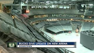 New Bucks arena at 90% completion - Video