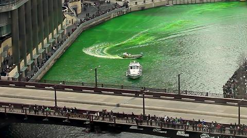 Here's How The Windy City Turns Its River Green For St. Patrick's Day
