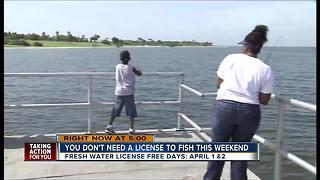 Fish for free on April 1 & 2 - Video