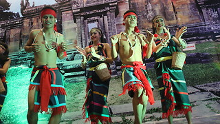 Amazing Cambodian folk dance with wonderfull dancers