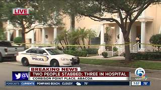 Man, woman taken to hospital after stabbings in Abacoa area of Jupiter - Video