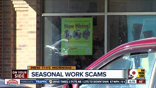 Beware bogus seasonal work, Better Business Bureau warns - Video