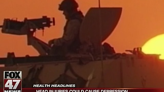 Research: Head injuries linked to depression - Video